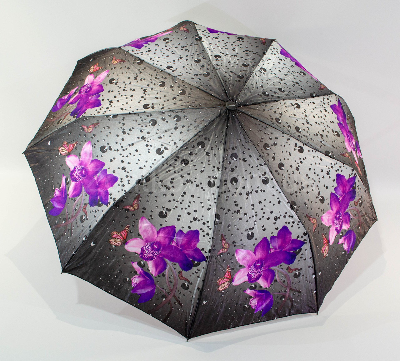 "Складной зонт полуавтомат сатин ""анти-ветер"" от фирмы ""Mario"""
