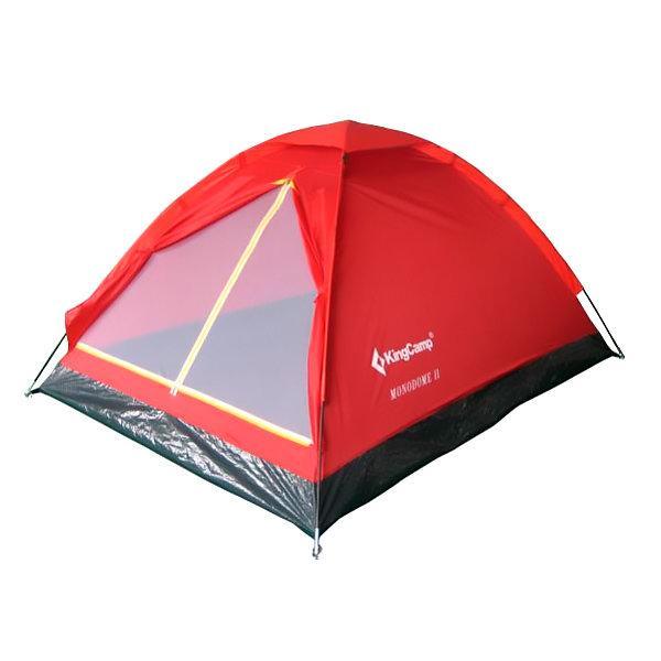 Палатка трехместная KingCamp Monodome 3 KT3016, красная