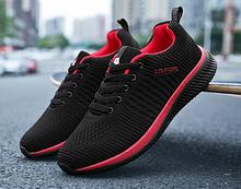 Кроссовки Fashion сетка черно-красные