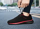 Кроссовки Fashion сетка черно-красные, фото 2