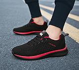 Кроссовки Fashion сетка черно-красные, фото 3