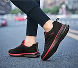 Кроссовки Fashion сетка черно-красные, фото 5