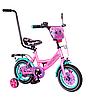 """Дитячий велосипед 12"""" від 2 років, TILLY Monstro з батьківською ручкою"""