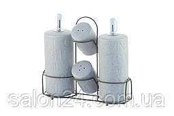 Набір для спецій керамічний Maestro - 5ед вертикальний Stone