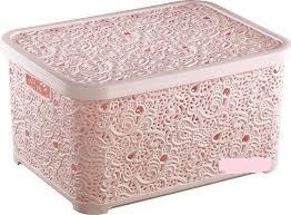 Корзина Ажурная  6 л для хранения Elif Турция корзина Ажур розовый, пудра, розовая пудра