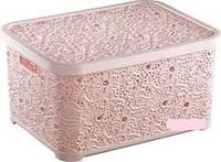 Корзина Ажурная  6 л для хранения Elif Турция корзина Ажур розовый, пудра, розовая пудра, фото 1