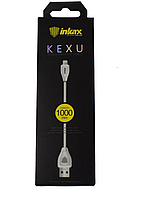 Кабель INKAX CK-20 USB - Iphone 5/6/7 Lightning 1m белый