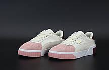 Женские кроссовки Puma Cali. White Pink Black. ТОП реплика ААА класса., фото 2