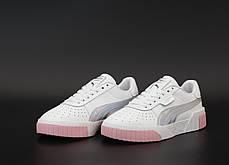 Женские кроссовки Puma Cali. White Pink. ТОП реплика ААА класса., фото 2
