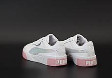 Женские кроссовки Puma Cali. White Pink. ТОП реплика ААА класса., фото 3