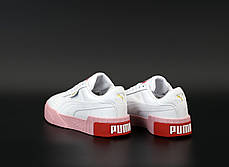 Женские кроссовки Puma Cali. White/Pink . ТОП реплика ААА класса., фото 3