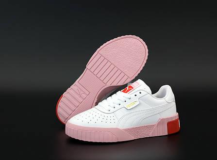 Женские кроссовки Puma Cali. White/Pink . ТОП реплика ААА класса., фото 2