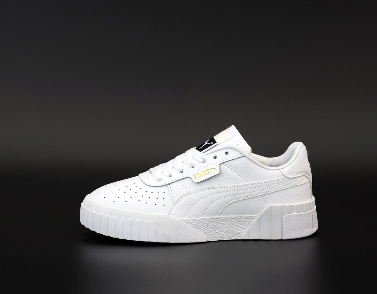 Мужские кроссовки Puma Cali.  White. ТОП Реплика ААА класса.