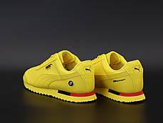 Мужские кроссовки Puma Roma BMW. Yellow. ТОП Реплика ААА класса., фото 3