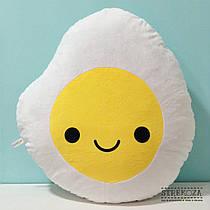 Большая мягкая игрушка подушка Strekoza Яичница 55см белый