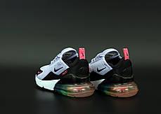 Женские кроссовки Найк Nike Air Max 270 Grey/Black . ТОП Реплика ААА класса., фото 3