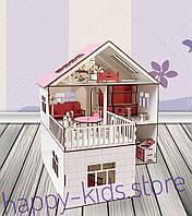 Деревянный кукольный домик для кукол Лол и других. Мебель 20 единиц в подарок!