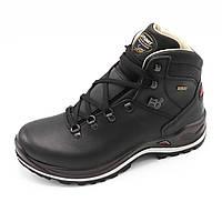 Распродажа. Классические ботинки мужские зимние кожа  высокие, Черный цвет размер 45