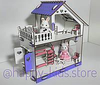 Деревянный домик МИНИ для кукол Лол и других + мебель в подарок!