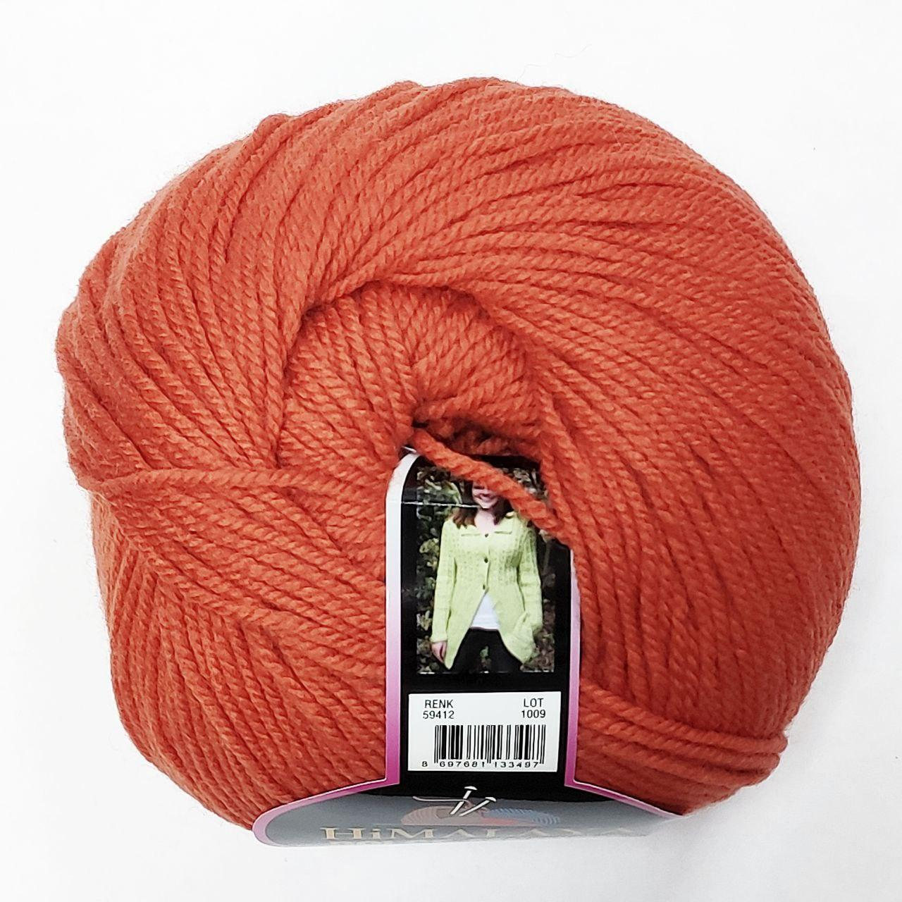 Пряжа вовна мериноса з мікрофіброю Dolce Merino Himalaya Туреччина, помаранчевий