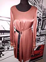 Платье женское терракотово-пудрового цвета