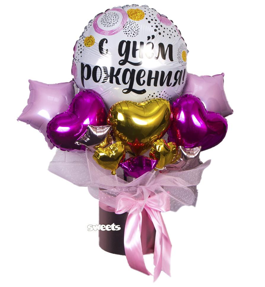 Букет в коробке Happy birthday №2