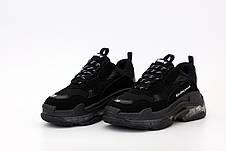 Женские кроссовки Balenciaga Triple S Black.. ТОП Реплика ААА класса., фото 3
