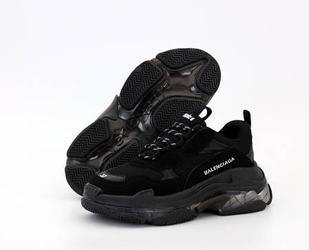 Женские кроссовки Balenciaga Triple S Black.. ТОП Реплика ААА класса., фото 2