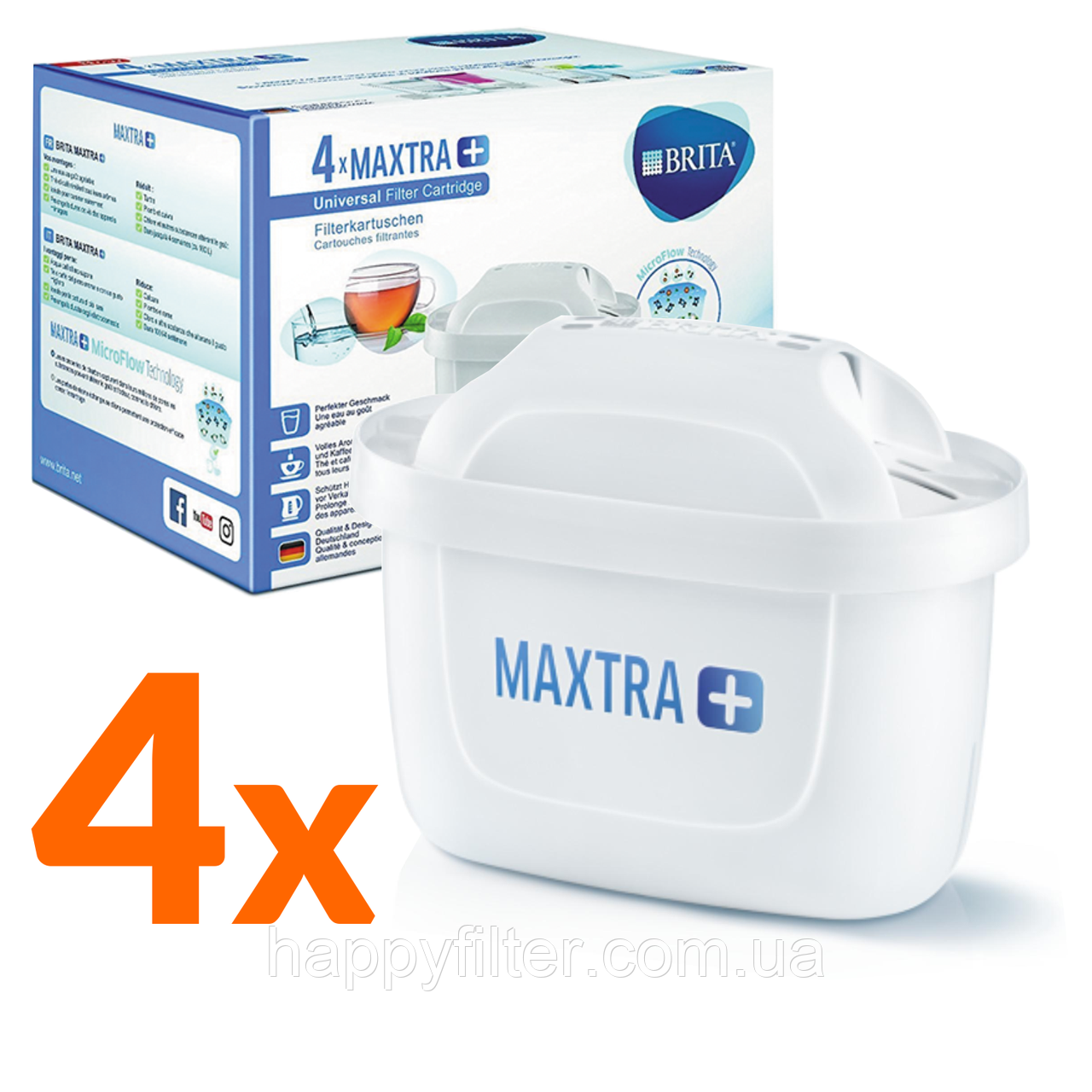 Набор картриджей Brita Maxtra Plus (P4)
