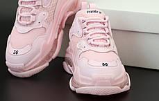 Женские кроссовки Balenciaga Triple S Pink. ТОП Реплика ААА класса., фото 2