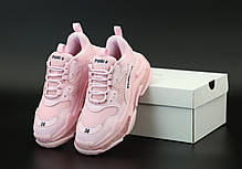 Женские кроссовки Balenciaga Triple S Pink. ТОП Реплика ААА класса., фото 3