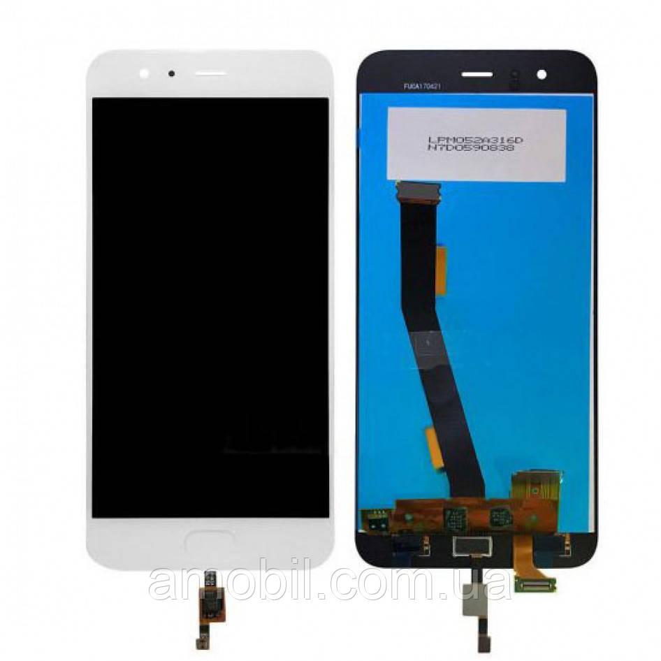 Дисплей + Сенсор Xiaomi Mi6 с сканером orig чип Synaptics white