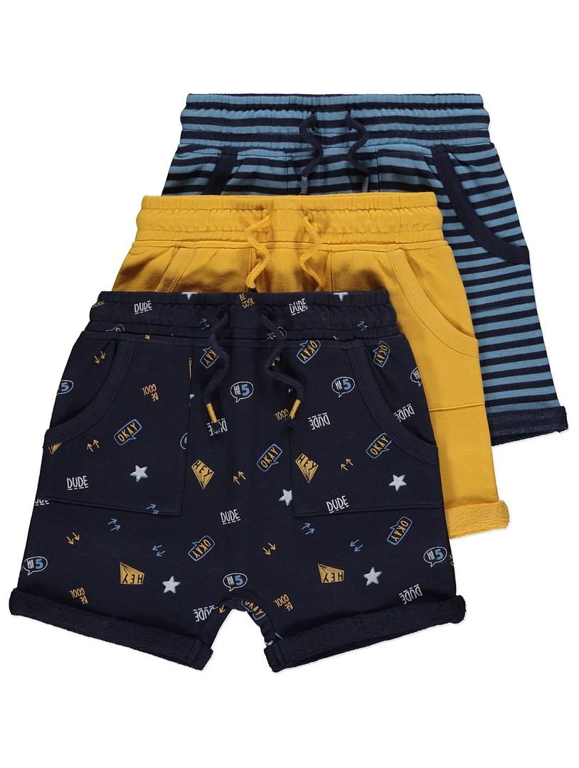 Стильные трикотажные шортики с отворотами Джордж для мальчика (поштучно)