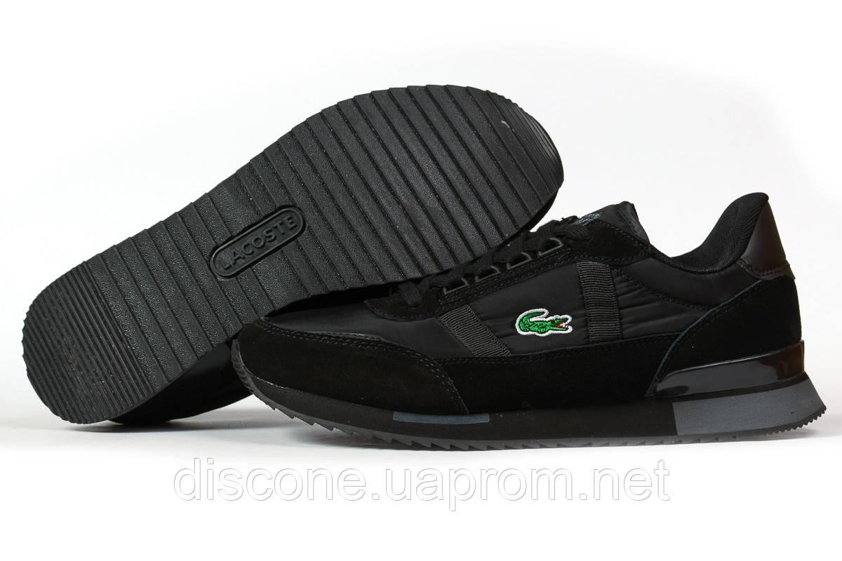 Кроссовки мужские 16931 ► Lacoste Sport, черные ✅Скидка 29% [ 42 43 ] ► (42-26,5см)