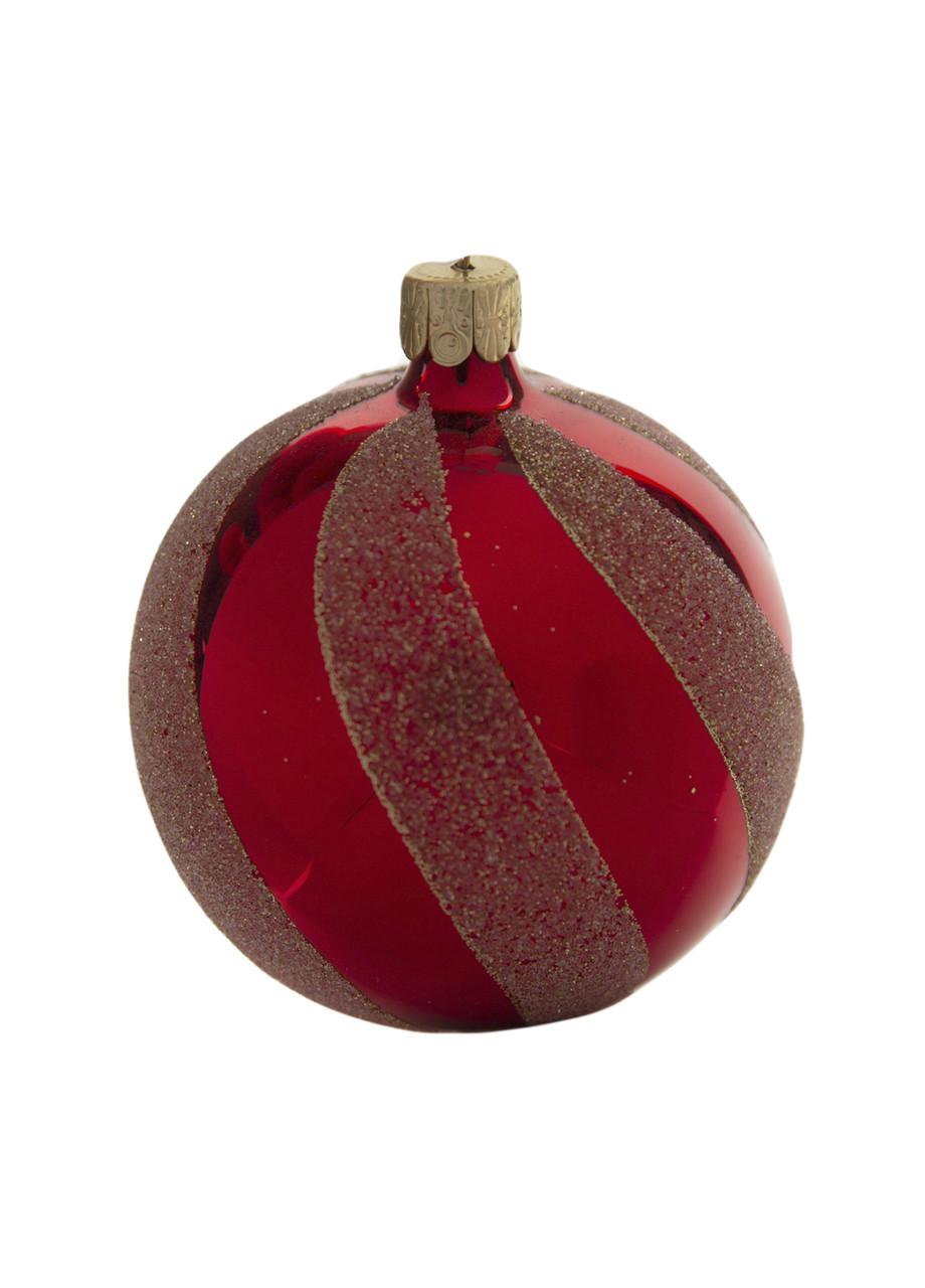 Елочная игрушка  Coincasa D=7см Красный