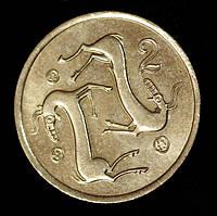 Монета Кипра 2 цента 1988 г., фото 1