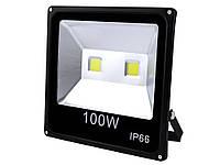 Прожектор светодиодный матричный 100W 2COB, влагозащита IP66, Гладкий рефлектор 100W 2COB