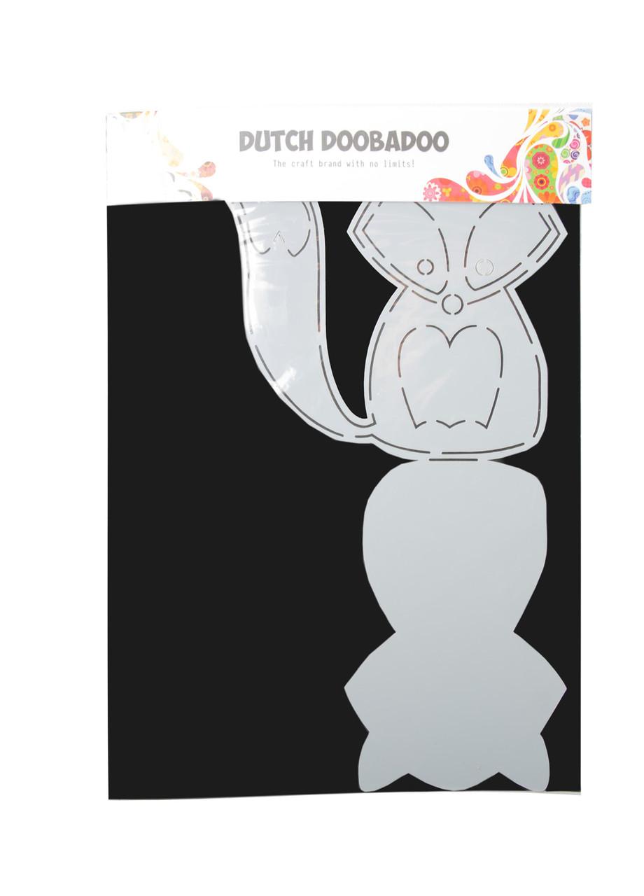 """Трафарет для творчества """"Лиса"""" Dutch Doobadoo 30х21см Черный, Серый"""