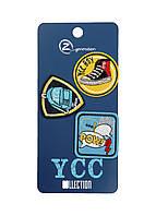 Етикетки для одягу YCC Uni Блакитний, Чорний, Жовтий