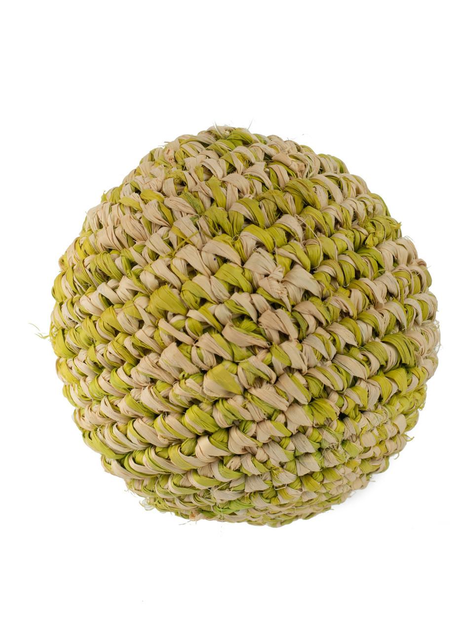 Куля для декору Coincasa 8,5 см Зелений, Бежевий