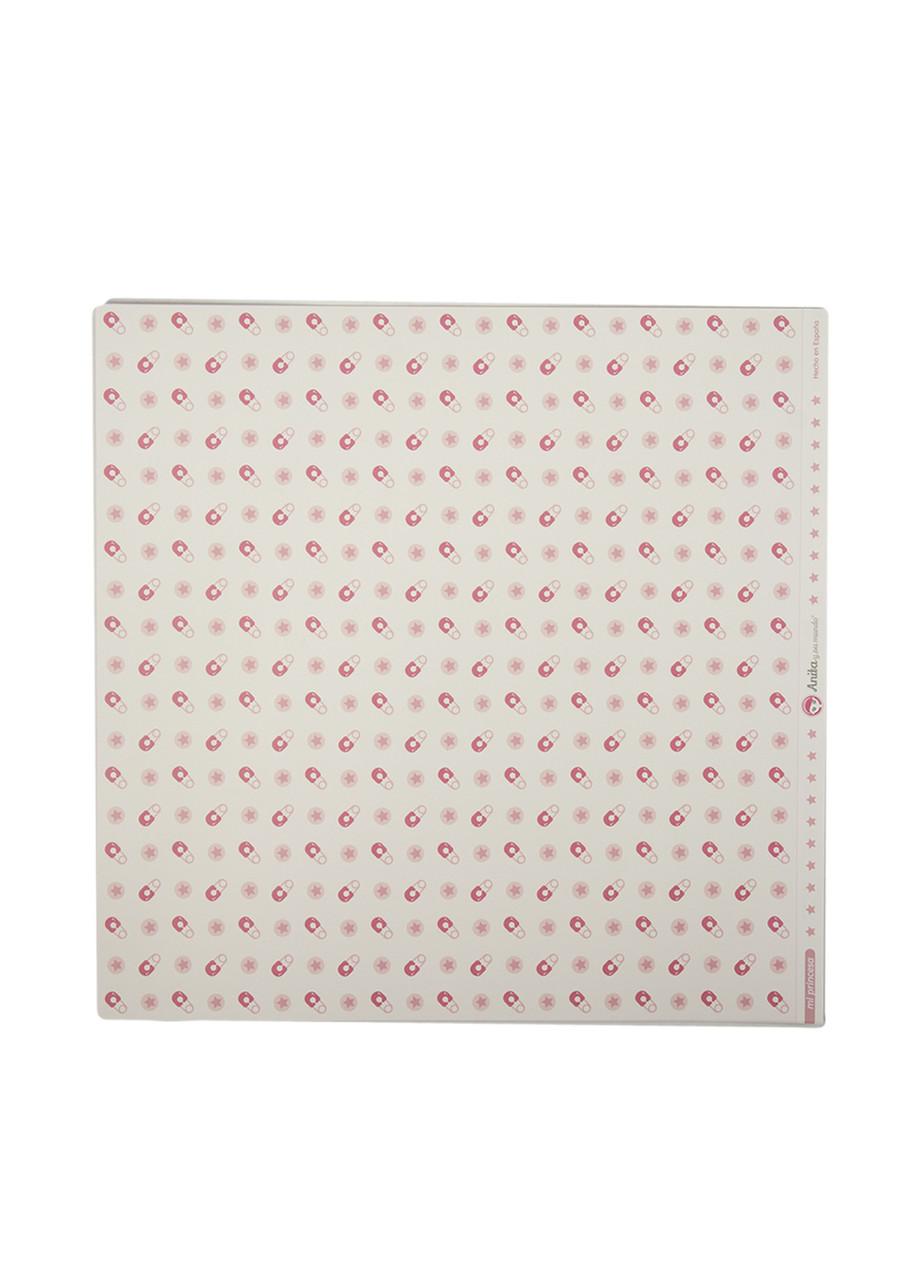 Набір штампованой паперу для творчості (5шт) Grafoplas 30,5х31,5см Білий, Рожевий