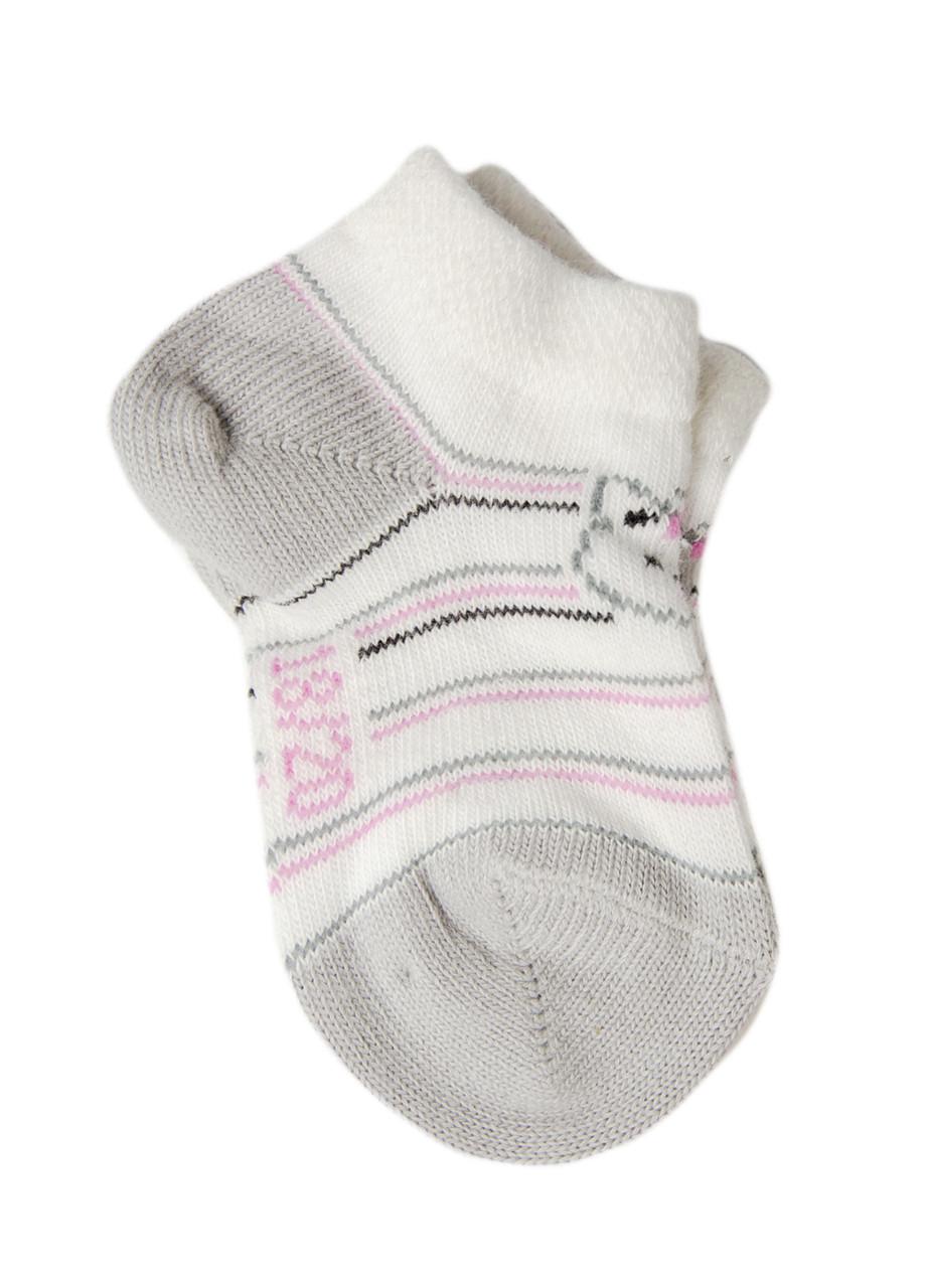 Шкарпетки Kindy 18-20 Білий, Сірий, Рожевий
