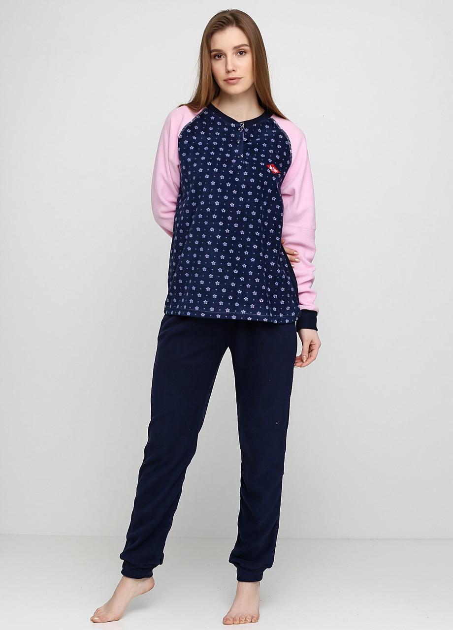 Піжама (штани, кофта) Lee Cooper XXL Синій, Рожевий