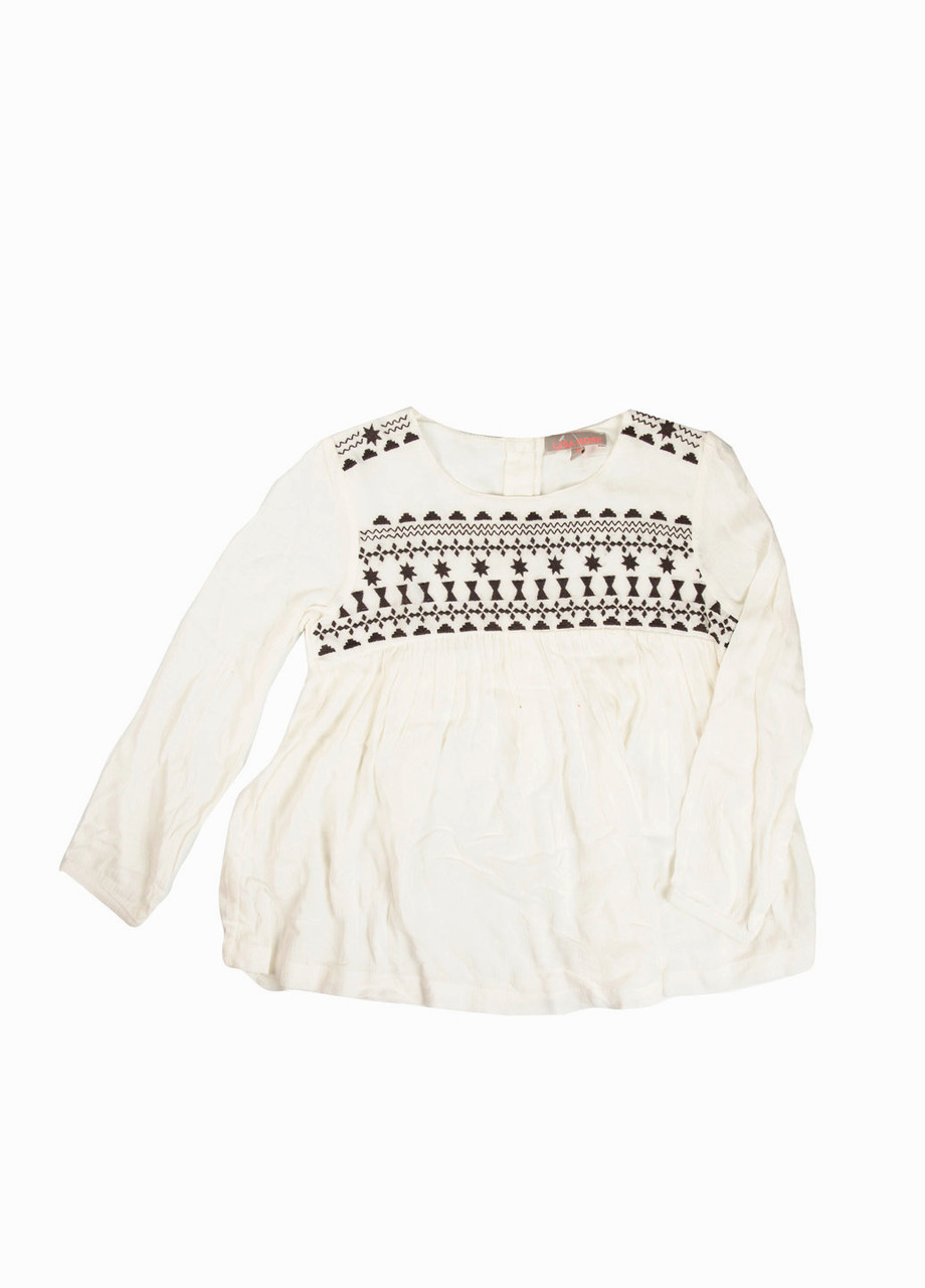Блуза Lisa Rose 110см Білий, Чорний
