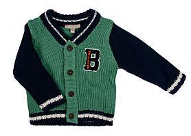 Кардиган Grain de ble 68см Зелений, Темно-синій, Білий