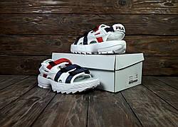 Женские сандалии\босоножки в стиле Fila Disruptor Sandals White Белые