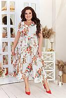 Праздничные платья большие размеры, Женские летние платья большого размера, Летнее платье молодежка больших размеров