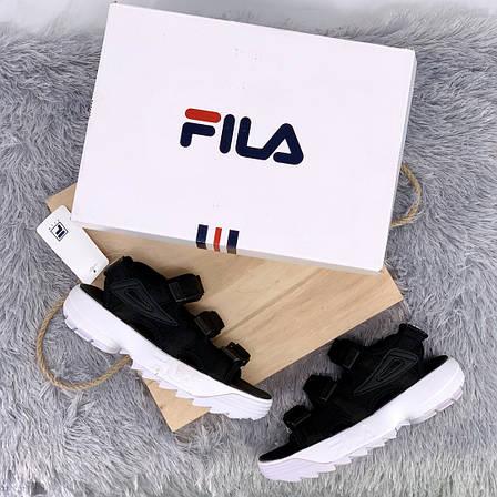 Женские сандалии\босоножки в стиле Fila Disruptor Sandals Black Черные, фото 2