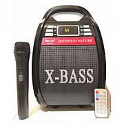 Акустическая портативная колонка комбик Golon RX-810BT (1 радио микрофон, USB, FM)