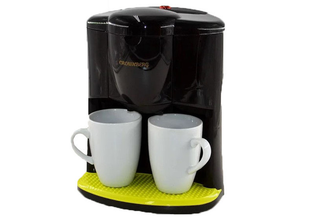 Кофеварка Crownberg CB-1560 и 2 чашки